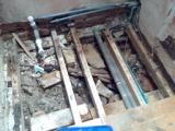 Private Client - HB - Discovery of completely rotten floor joists and piles of rubble underneath!